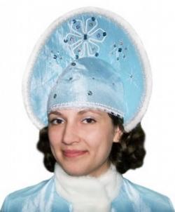 Кокошник Снегурочки голубой, размер: UNI - Новогодние колпаки, арт: I1293S102