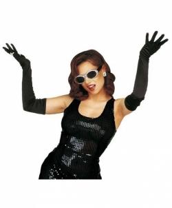 Черные перчатки (60 см), размер: UNI - Перчатки, арт: I6349S112