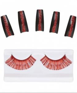 Набор Дьяволицы: накладные ногти, накладные ресницы - Накладные ногти, арт: I6423S0