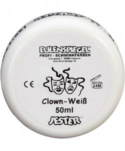 Грим клоунский белый профессиональный - Масляный грим, арт: I5664S0