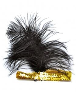 Золотая повязка с перьями - На голову, арт: I5132S0