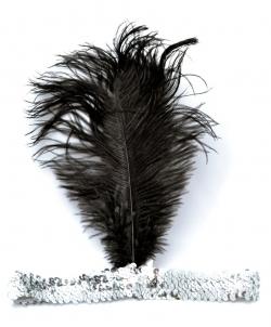 Серебряная повязка с перьями - На голову, арт: I5035S0