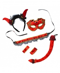 Набор дьяволицы - Рога, нимбы, уши, арт: I7308S0