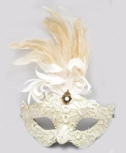 Венецианская маска Colombina, белая - Маски, арт: I7513S0