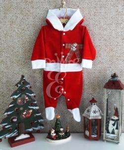 Новогодний комбинезон для малышей Маленький Санта, размер: 74 - На Новый Год 2019, арт: I7970S161