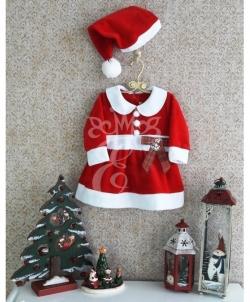 Новогоднее платье для малышей Маленькая Санта, размер: 92 - На Новый Год 2019, арт: I7973S163