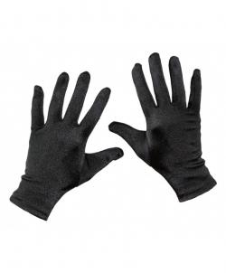 Короткие сатиновые перчатки (черные), размер: UNI - Перчатки, арт: I8073S112