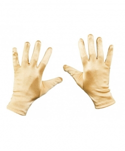 Короткие сатиновые перчатки (золотые), размер: UNI - Перчатки, арт: I8075S112