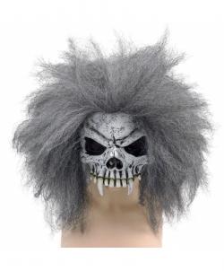 Полумаска скелета с седыми волосами - Маски, арт: I7567S0