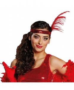 Красная повязка с перьями - На голову, арт: I5133S0