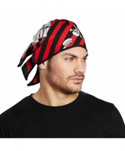 Бандана пиратская красно-чёрная, размер: UNI - На голову, арт: I4833S102