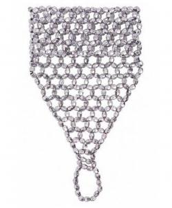 Украшение на кисть руки из бисера (серебро) - Перчатки, арт: I8605S0