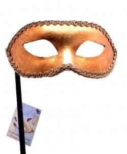 Золотая венецианская маска на палочке - Маски, арт: I8712S0