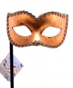 Золотая венецианская маска на палочке - Маски, арт: I8720S0