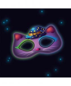 Маска-очки неоновая Кот - Маски, арт: I9254S0