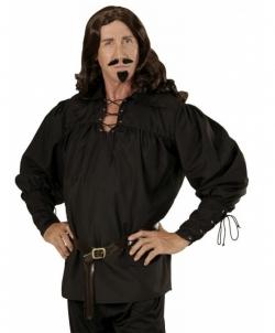 Карнавальный костюм: Черная средневековая рубашка, размер: 48-52 - Все мужские костюмы, арт: I9673S61