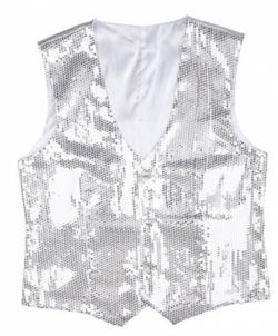 Карнавальный костюм: Мужская серебряная жилетка, размер: 50-52 - Все мужские костюмы, арт: I9744S18