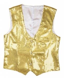 Карнавальный костюм: Мужская золотая жилетка, размер: 56 - Все мужские костюмы, арт: I9745S25